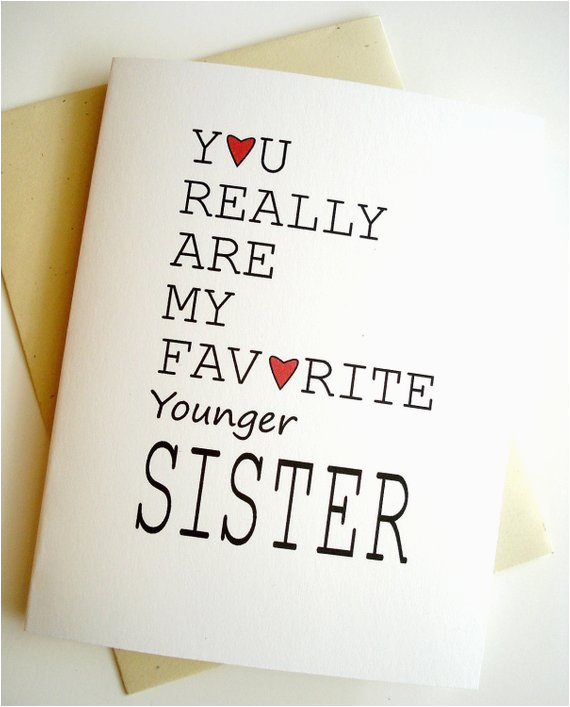 favorite sister card birthday younger