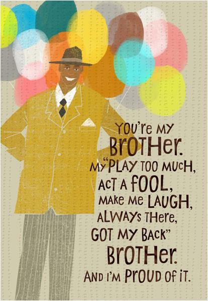brother love birthday card 299mhb9049