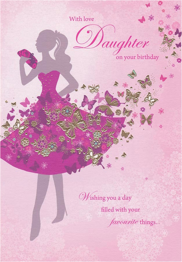 daughter birthday card silhouette sara miller