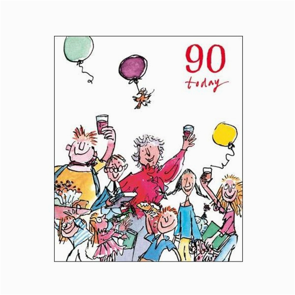 90th unisex birthday card quentin blake same day