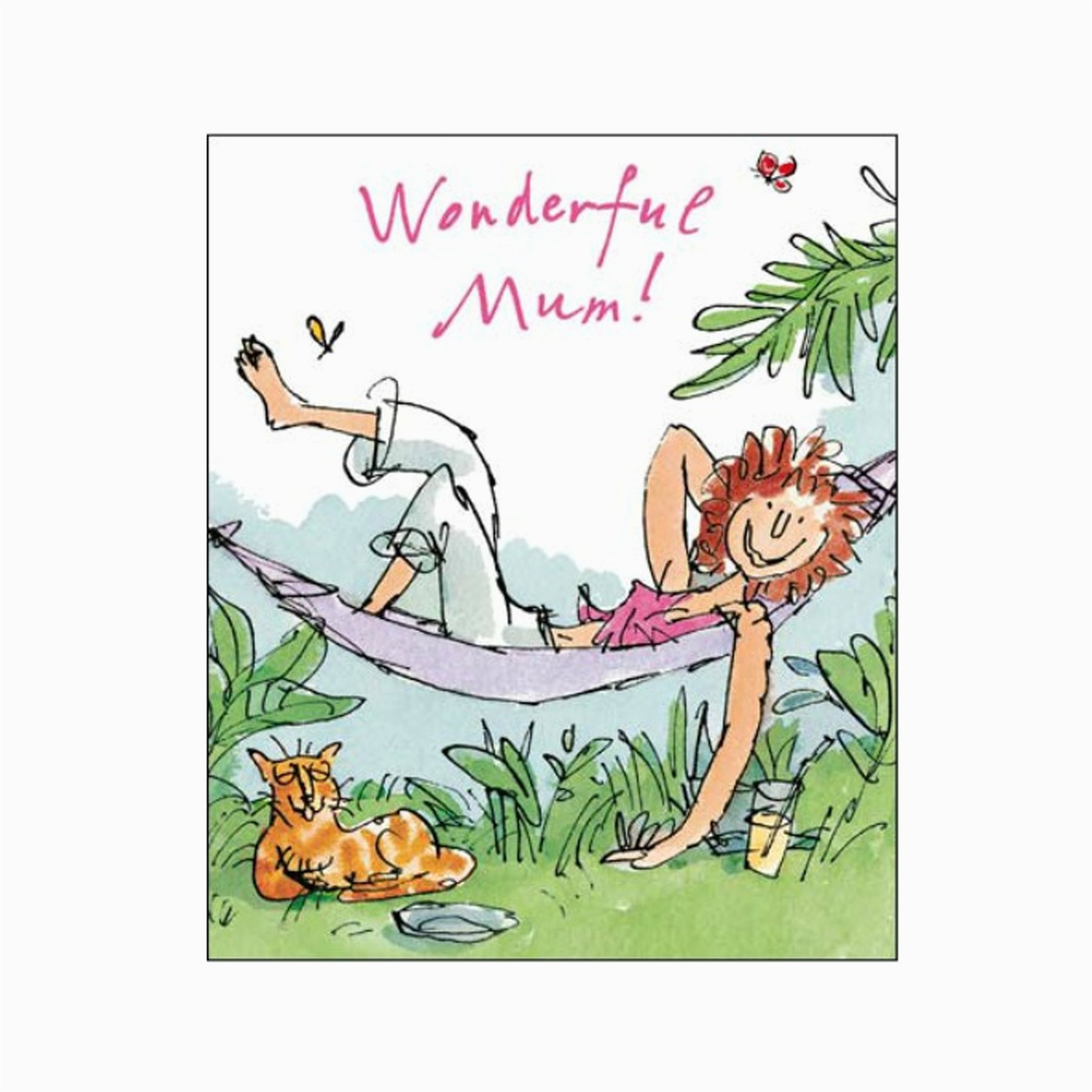 wonderful mum birthday card quentin blake same day