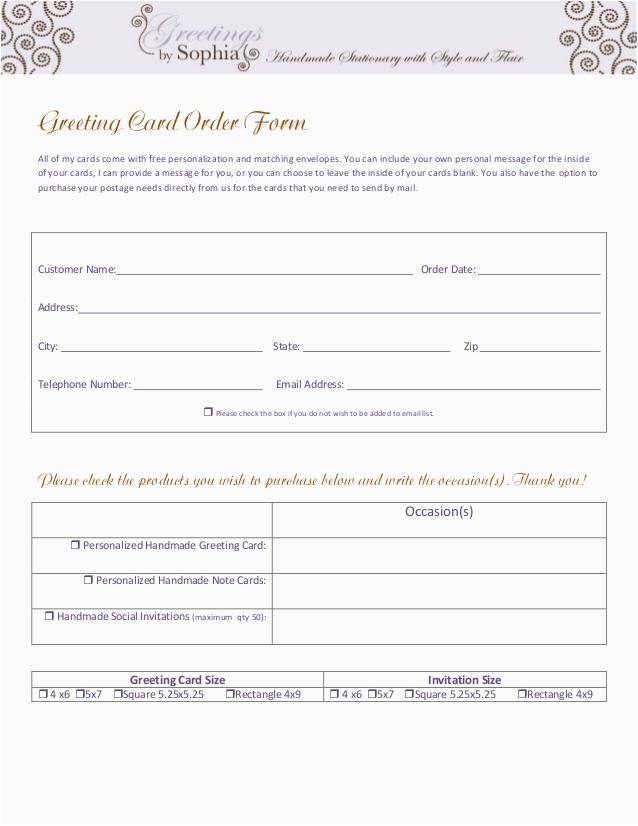 invitationsgreeting card order form