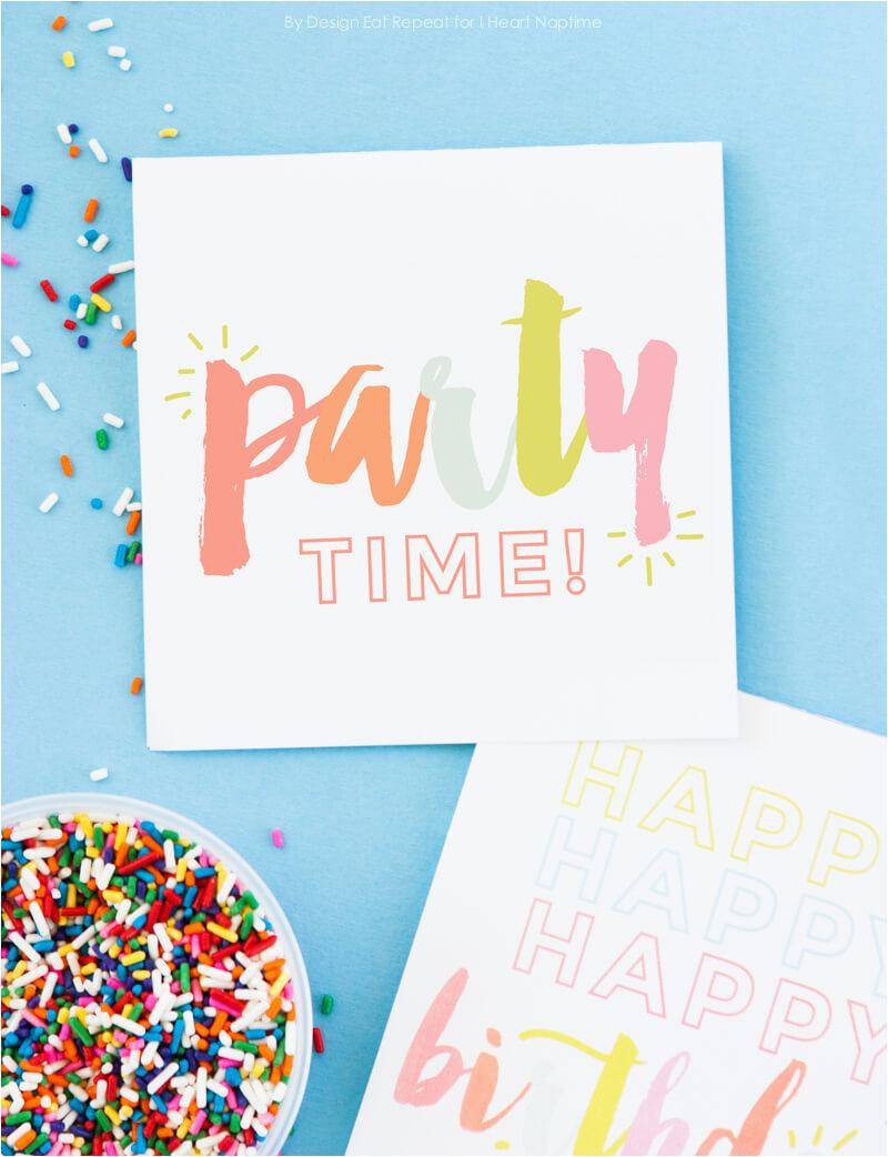 Birthday Cards Print Free Free Printable Birthday Cards I Heart Nap Time