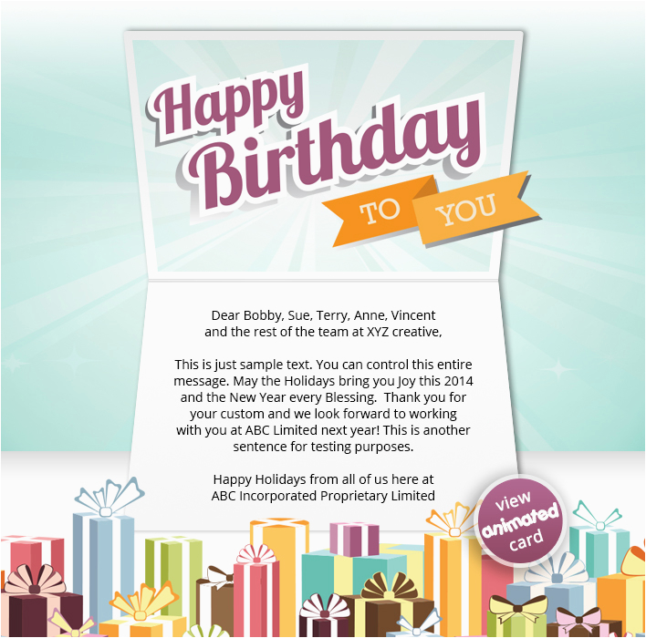 Birthday Cards Through Email Corporate Ecards Employees Clients Happy
