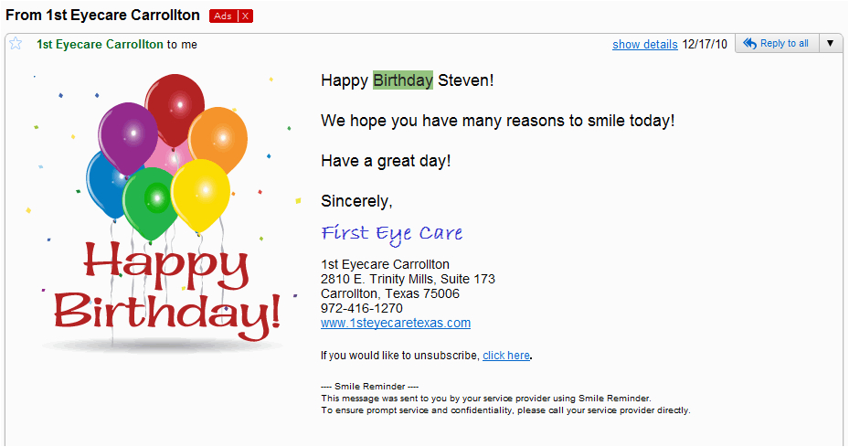sexy birthday wishes email