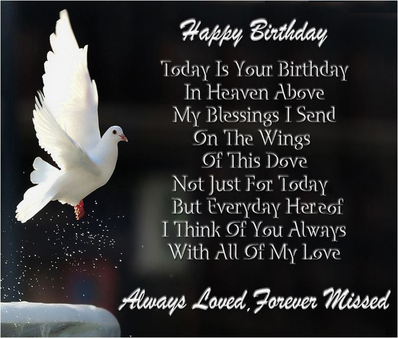 Birthday Cards To Loved Ones Happy In Heaven Wishes Quotes Images