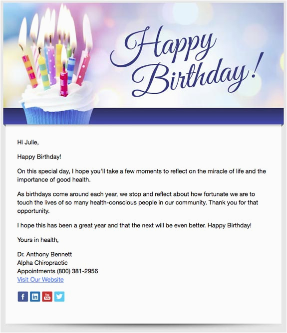 Birthday Cards To Send By Email Patient Emails Perfect Patients Chiropractic
