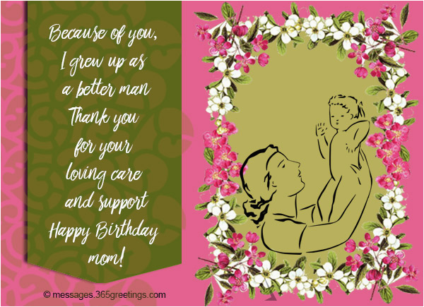 Birthday Cards To Son From Mother Wishes For 365greetings Com