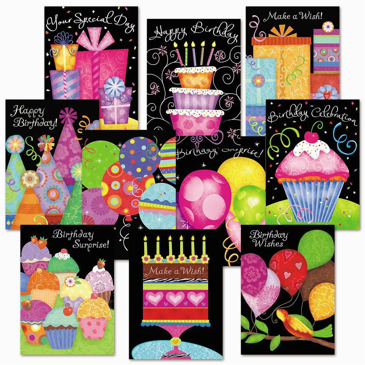 Birthday Cards Value Pack Birthday Brights Birthday Card Value Pack Colorful Images