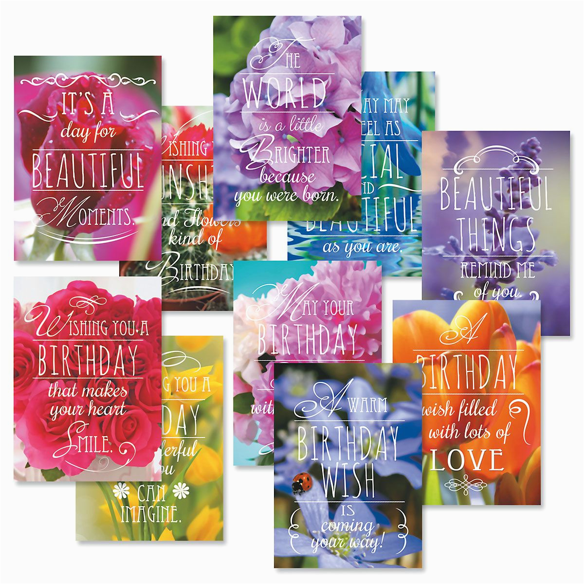 floral birthday cards value pack current catalog