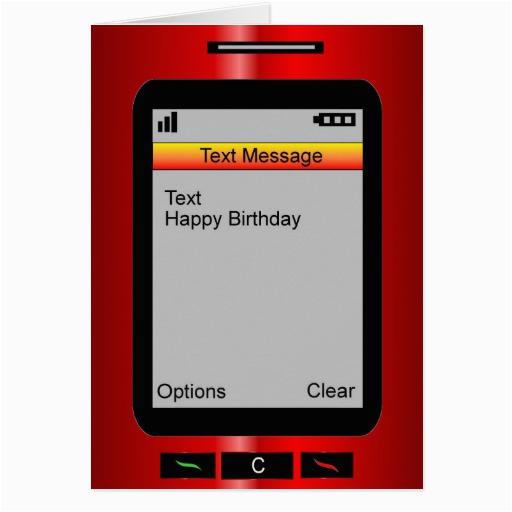 text message happy birthday cards zazzle