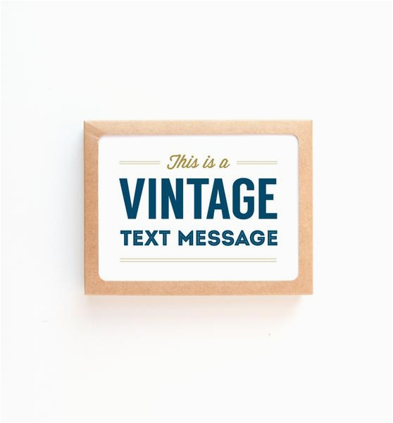 vintage text message greeting card graphic anthology