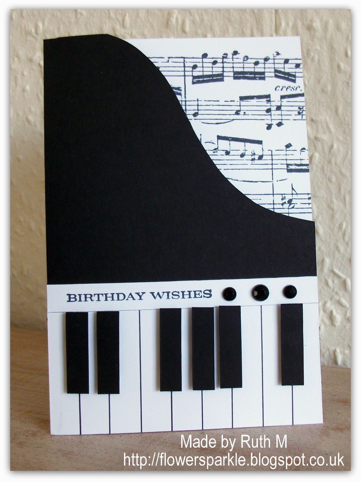 Birthday Cards With A Piano Theme Flower Sparkle Wishes Card For Alan