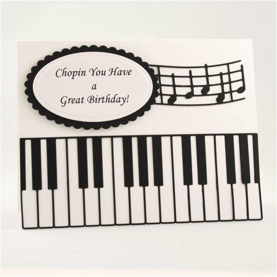 Birthday Cards With A Piano Theme Handmade Card Happy Music Teacher