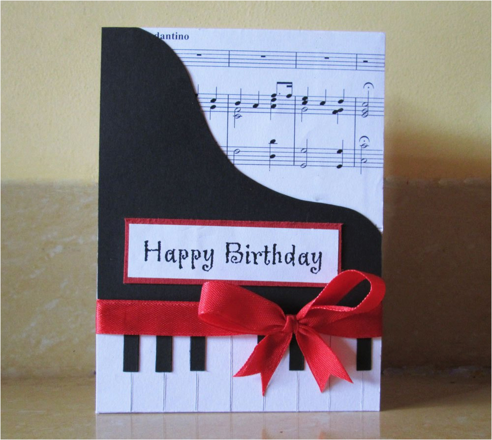 Birthday Cards With A Piano Theme Happy Card Music Themed By Dreamsbytheriver