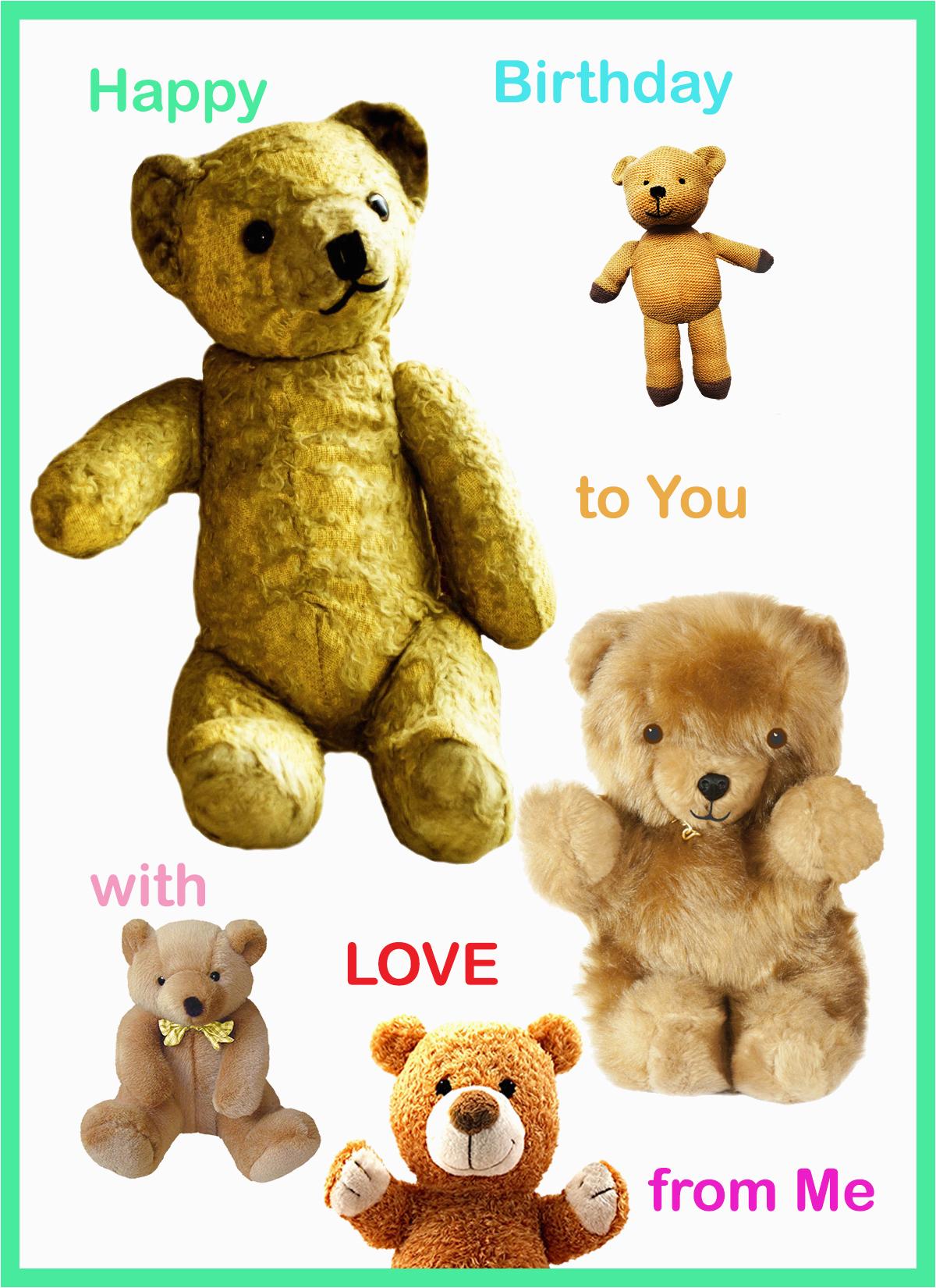free birthday cards with teddy bears