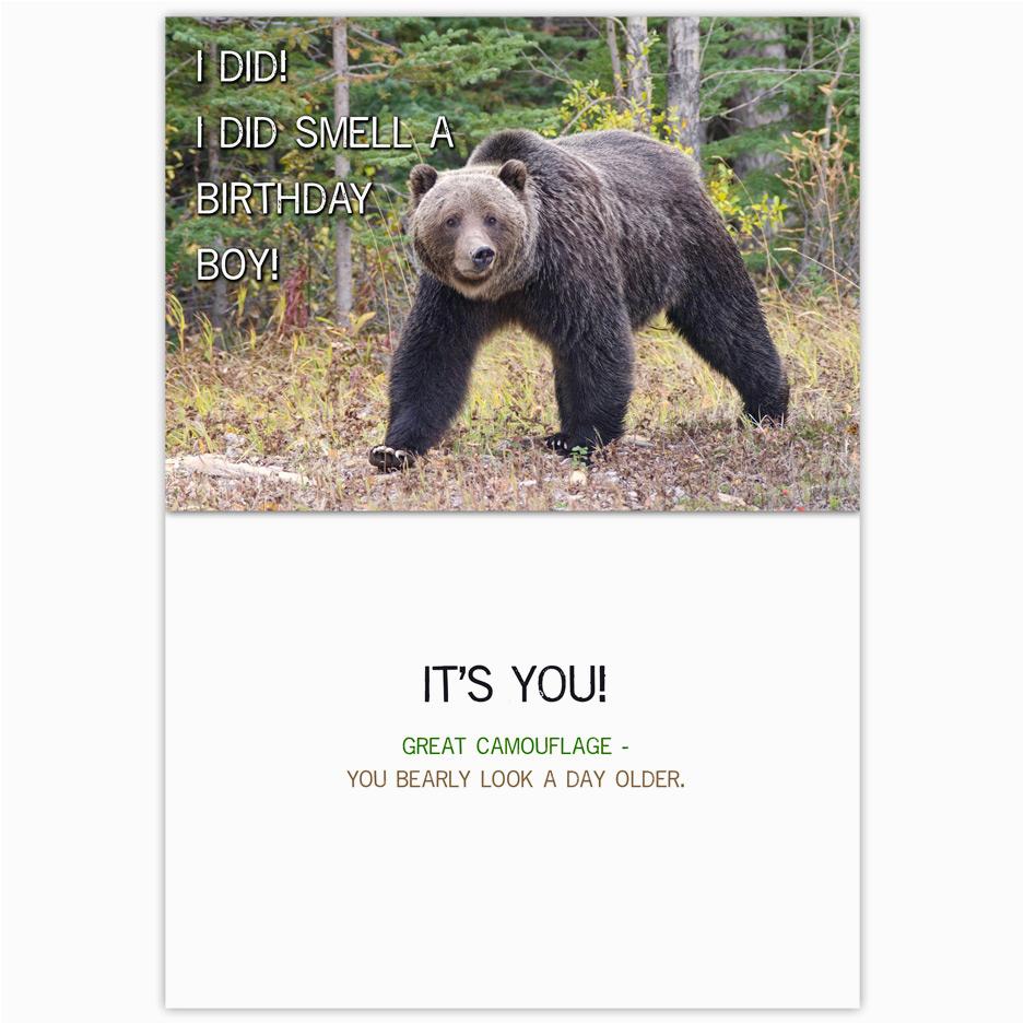 grizzly bear birthday card