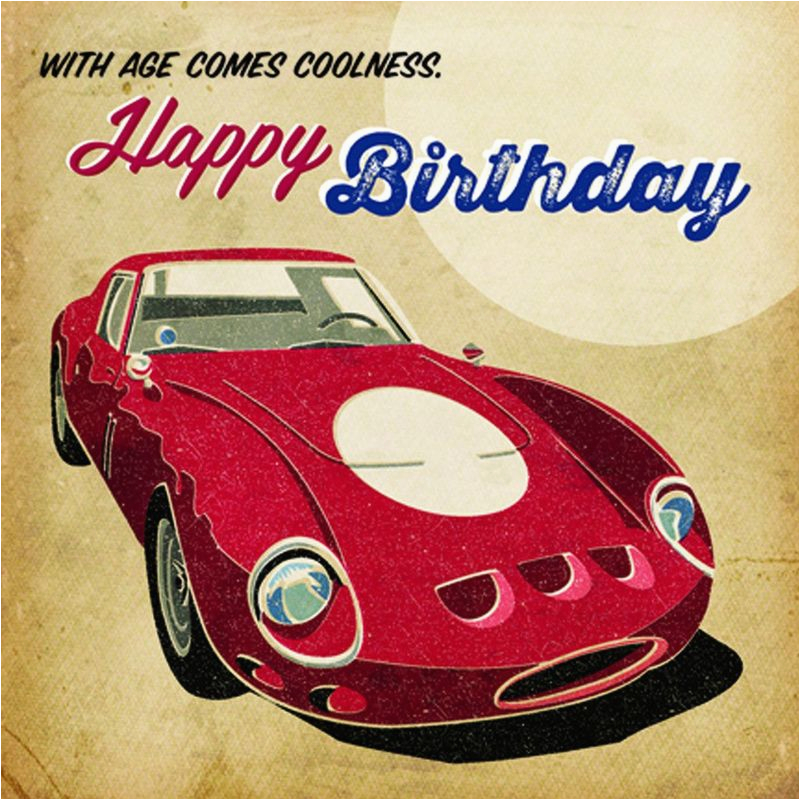 with age comes coolness red ferrari birthday card