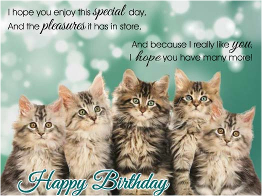 Birthday Cards With Cats Singing Kitties Free Happy Ecards