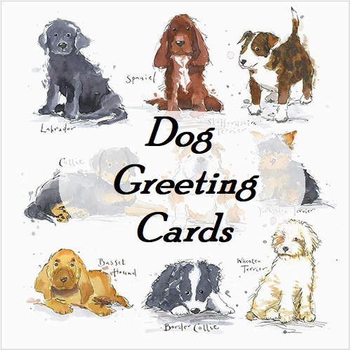 Birthday Cards With Dogs On Them Dog Greeting Buy 10 And Save 20