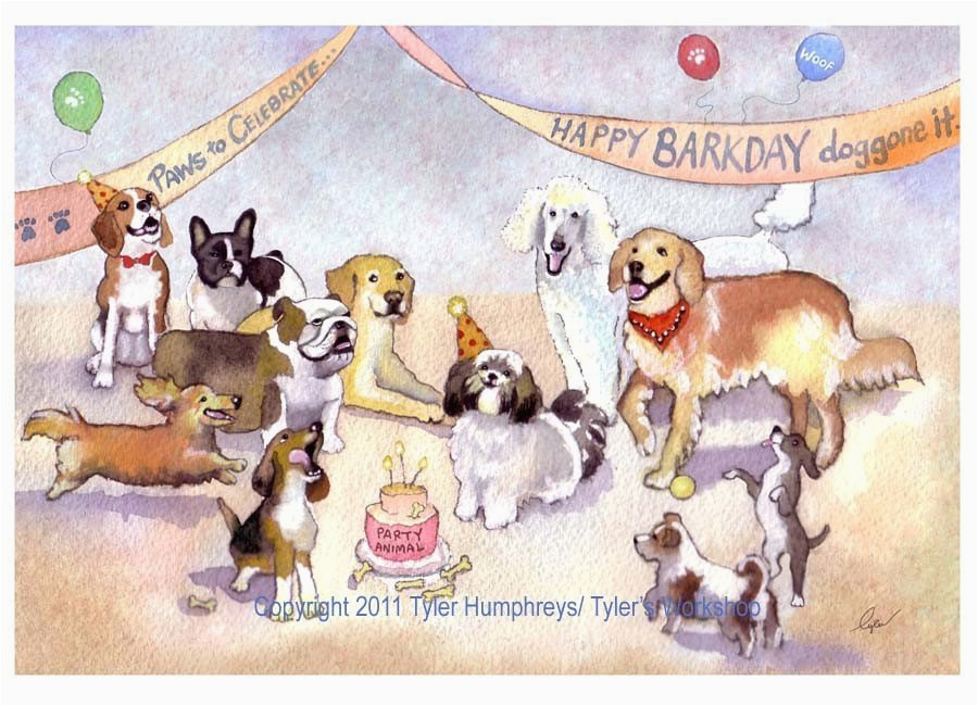 Birthday Cards With Dogs On Them Funny Dog Greeting Card