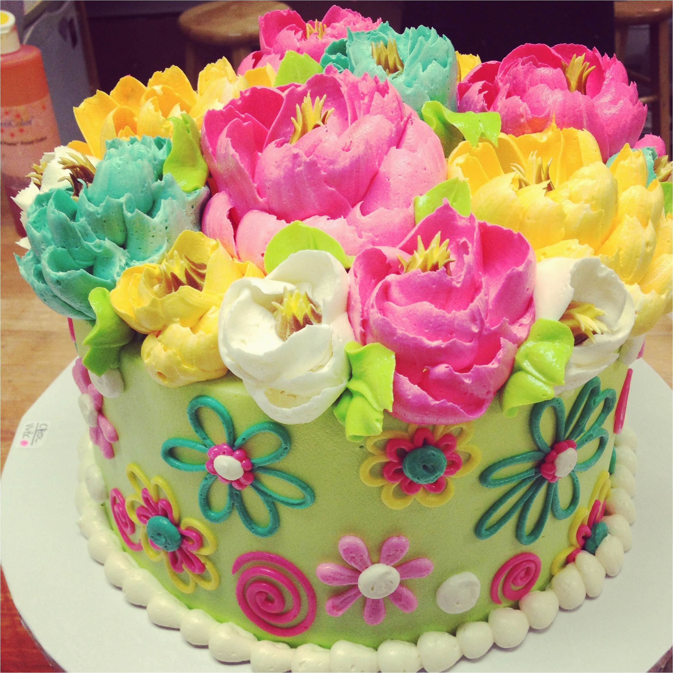 happy birthday flower and cake images facebook birthday