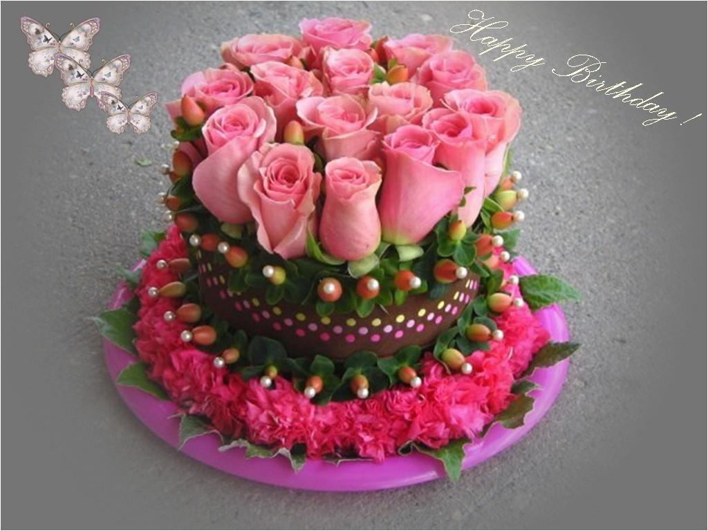 happy birthday flowers wishes love