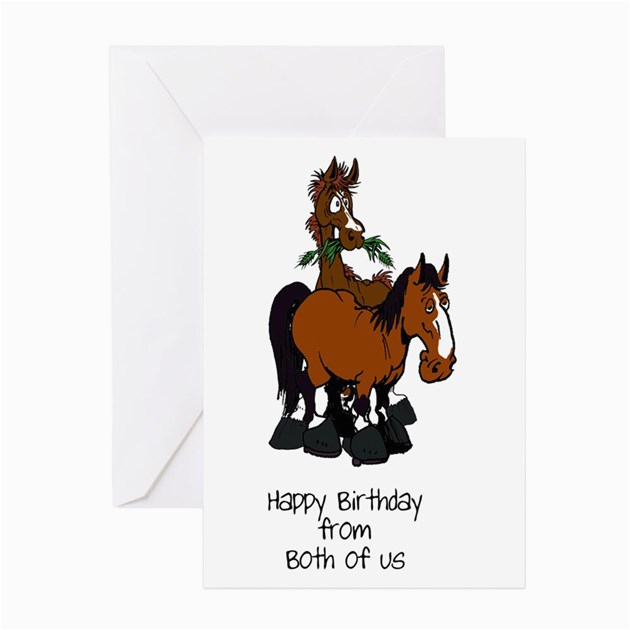 from both horse birthday card greeting cards