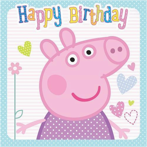 Birthday Cards With Pigs Peppa Pig Happy Birthday Card New Ebay