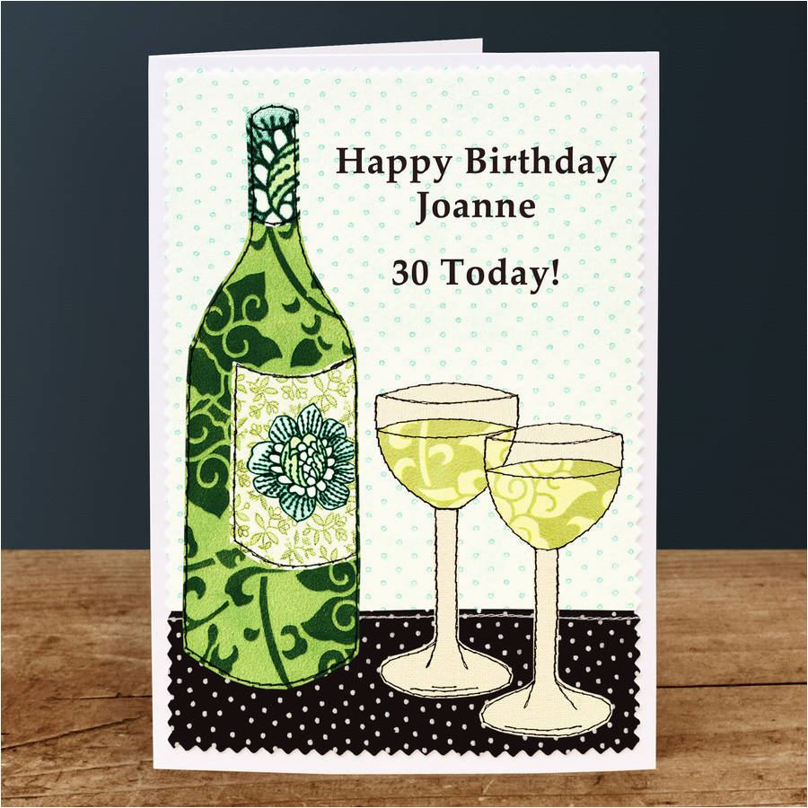 39 wine 39 personalised birthday card by jenny arnott cards