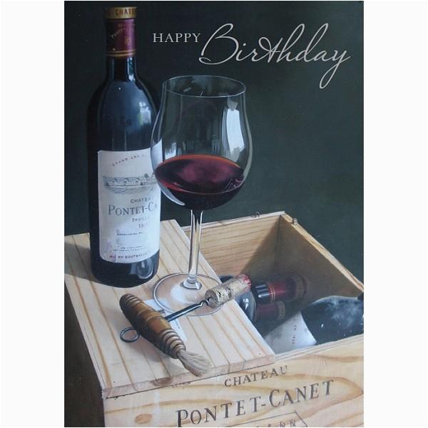 glass of wine birthday card by british heart foundation