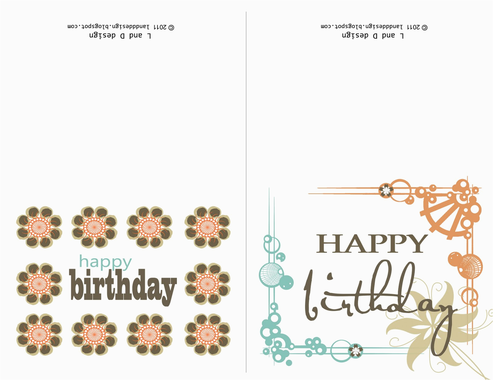 Birthday Cards You Can Print Out L and D Design Free Birthday Card Printable