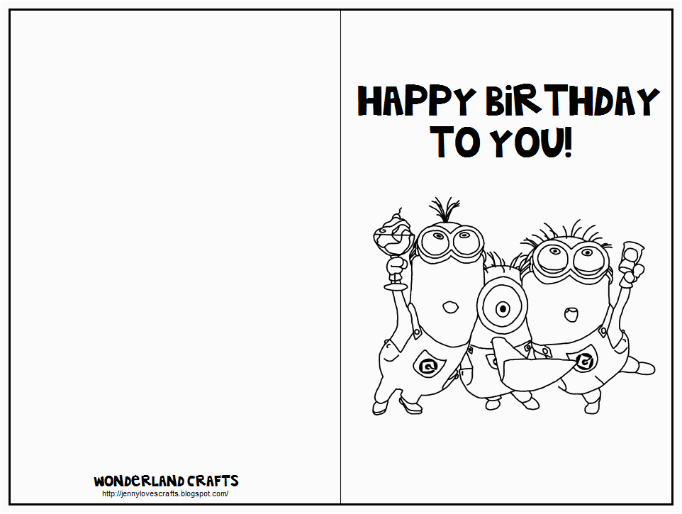 Birthday Cards You Can Print Out Wonderland Crafts