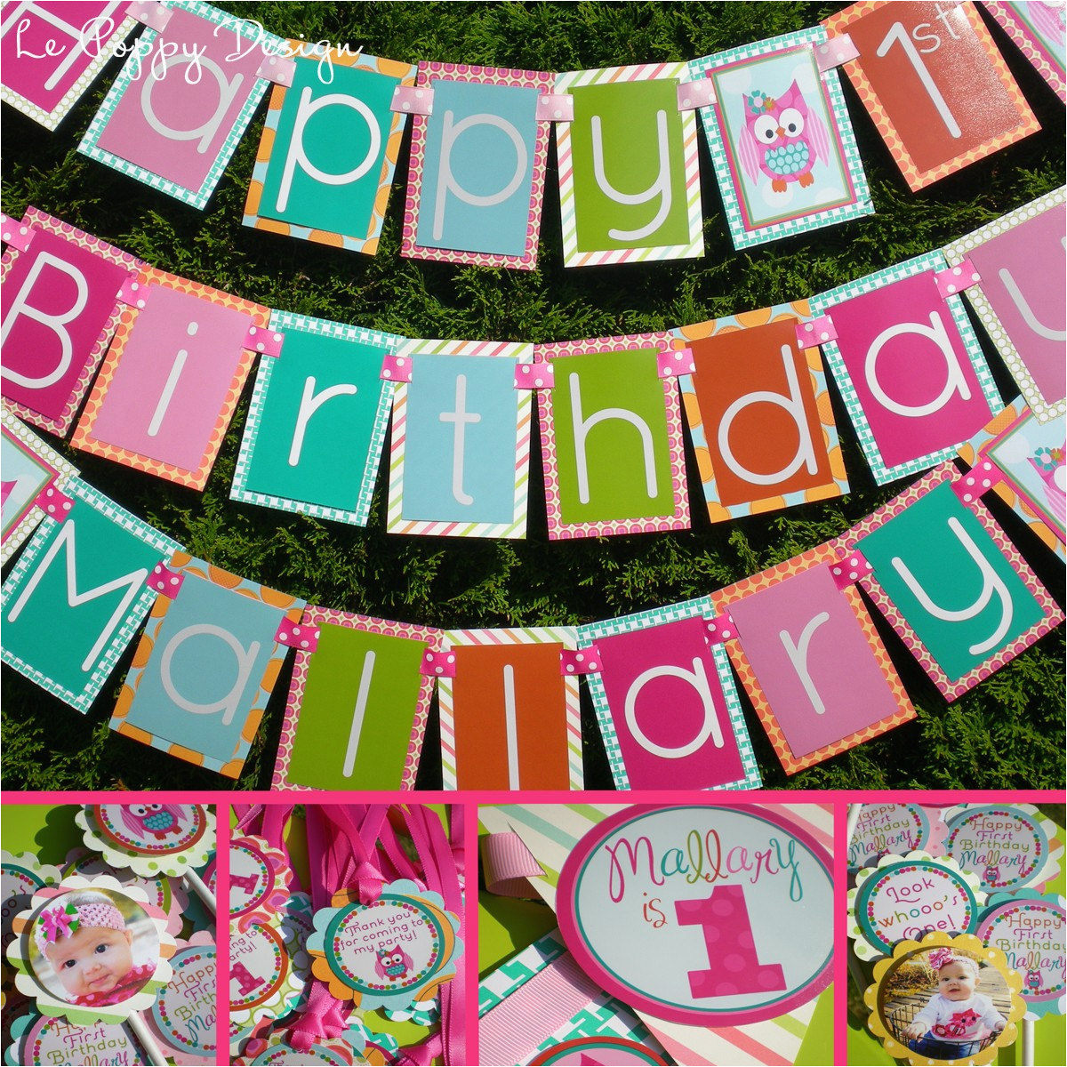 Owl Birthday Party Decorations Package