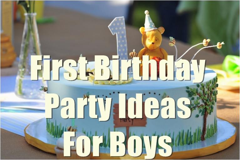 1st birthday party ideas for boys