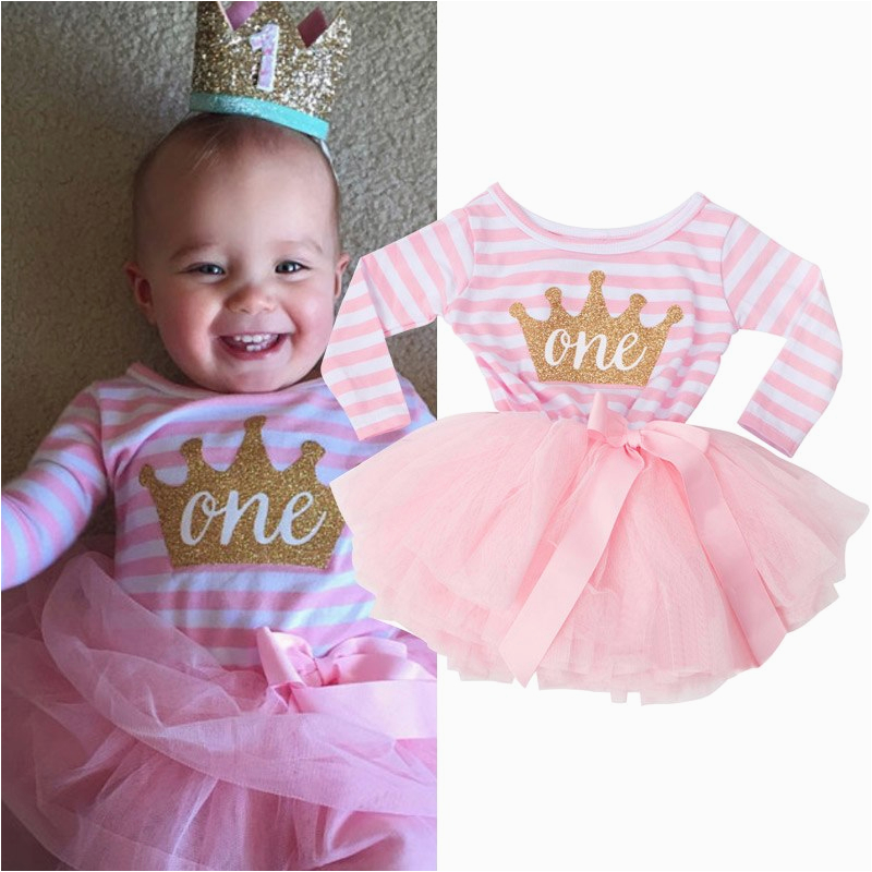 baby girl first birthday outfit long sleeve newborn baby