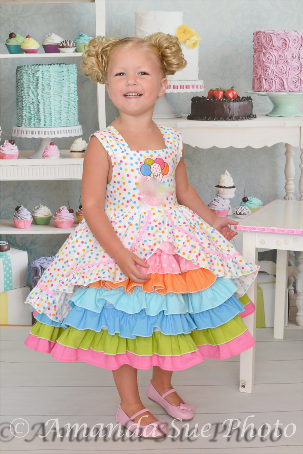 size 3t birthday party confection dress baby toddler girls