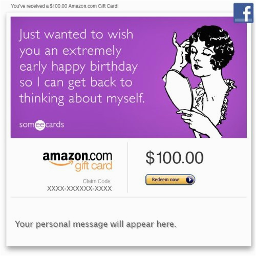 Birthday E Gift Cards Find Amazon Card Facebook Early