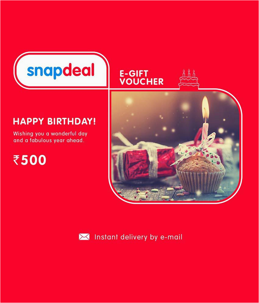 Birthday E-gift Cards Snapdeal Birthday E Gift Card Buy Online On Snapdeal