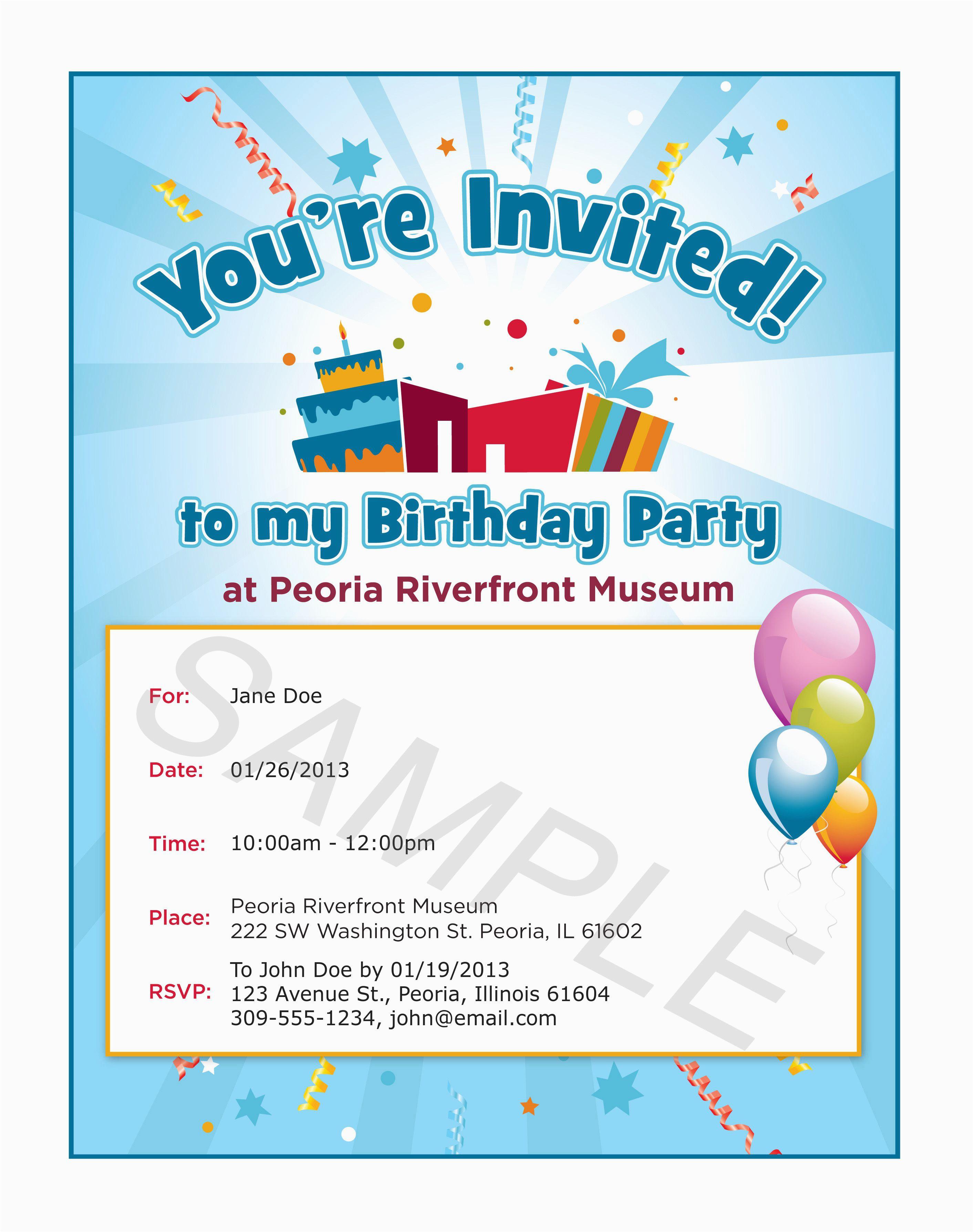 Birthday Email Invitation