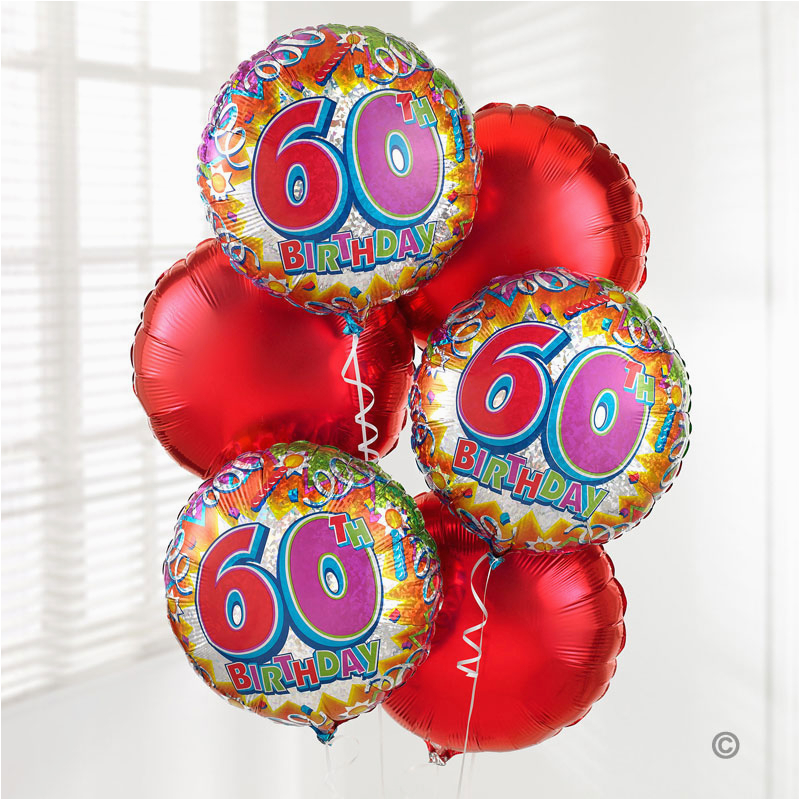 Birthday Flowers And Balloons Delivered Uk Gift Delivery 60th Balloon Bouquet Isle Of