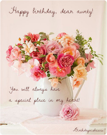 Birthday Flowers And Messages Happy Aunty Wishes For Aunt With Images