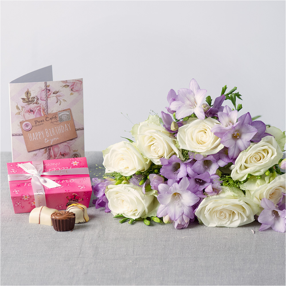Birthday Flowers by Post Lilac Haze Birthday Gift Birthday Flowers by Post