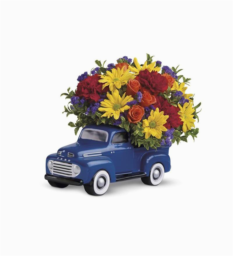 Birthday Flowers For Man Teleflora 39 S 48 Ford Pickup Bouquet T25 1a 51 26
