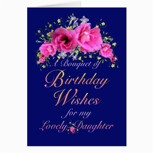 daughter birthday bouquet of flowers and wishes card zazzle