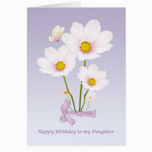 daughter birthday card with flowers and butterfly zazzle