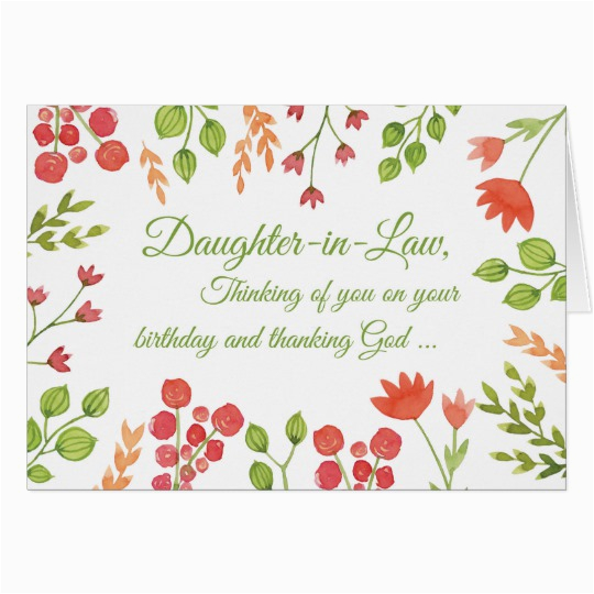 daughter in law birthday flowers religious card zazzle com