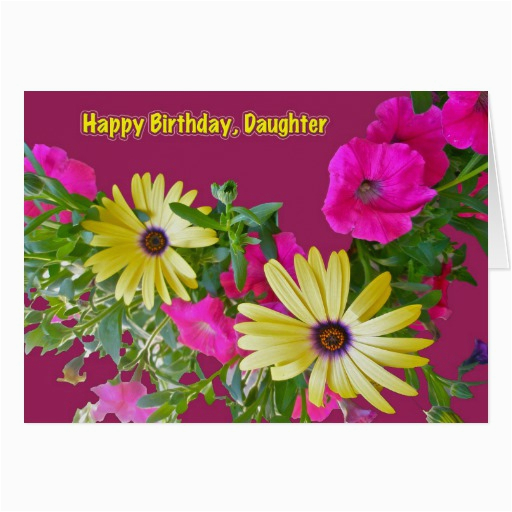 Birthday Flowers for My Daughter Mixed Flowers Daughter Birthday Card Zazzle