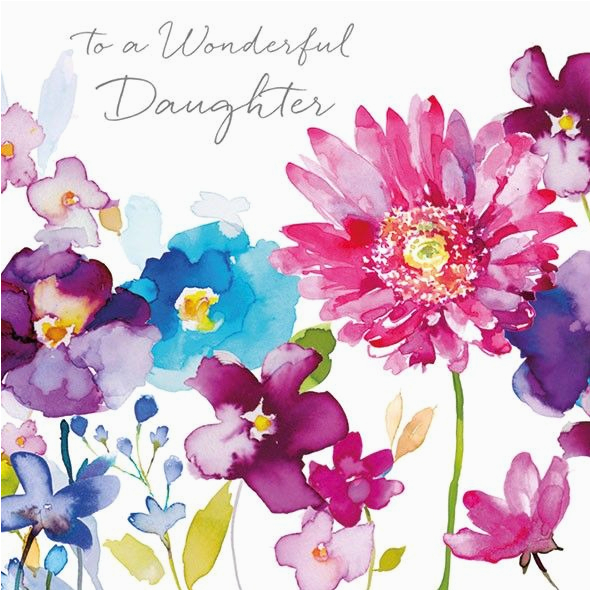 Birthday Flowers for My Daughter Wild Flowers Daughter Birthday Card Karenza Paperie