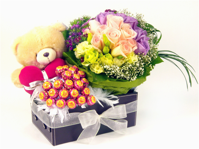 Florist Gift Set Three Times The Charm Birthday
